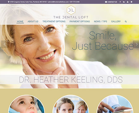 The Dental Loft Website Design