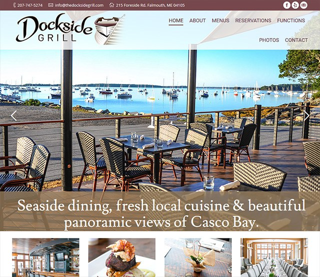 Dockside Grill Website Design