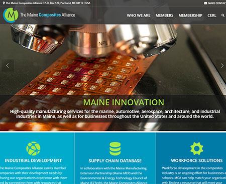 Maine Composites Alliance Website Design