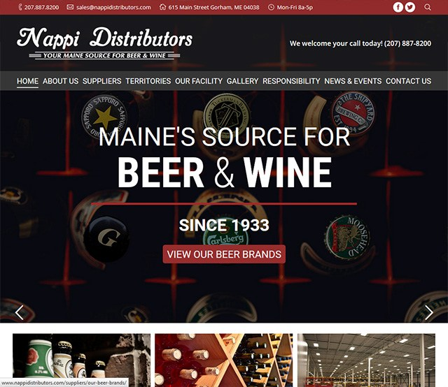 Nappi Distributors Website Design