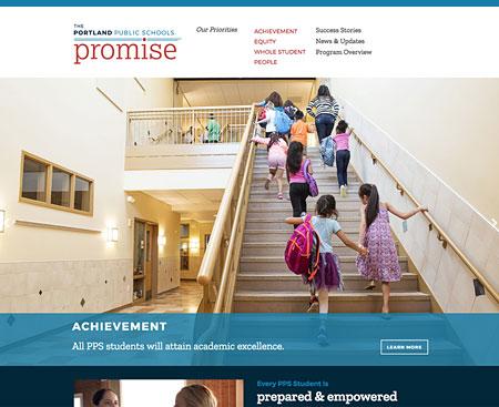Portland Public Schools Promise Website Design