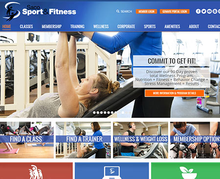Saco Sport & Fitness Website Design