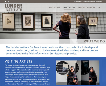 Lunder Institute at Colby Website Design