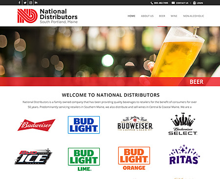 National Distributors Website Design