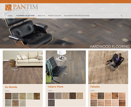 PanTim Wood Products Website Design